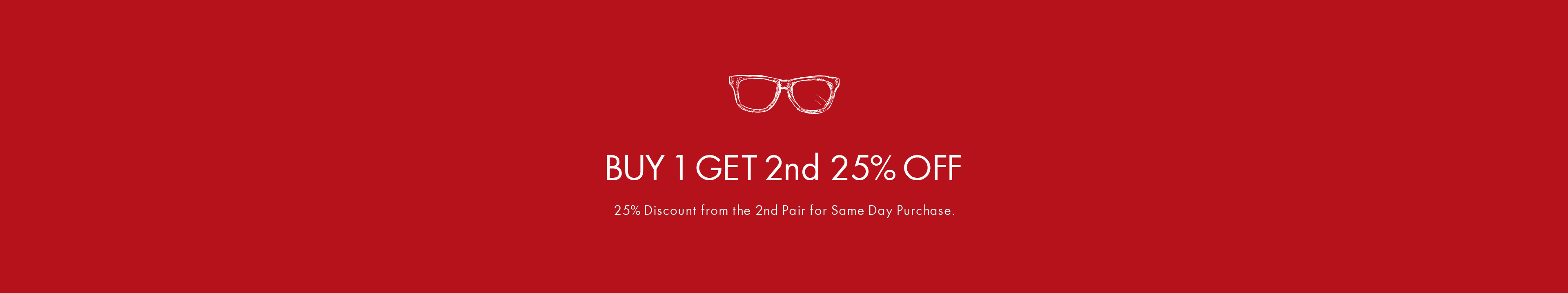 BUY 1 GET 2nd 25% OFF