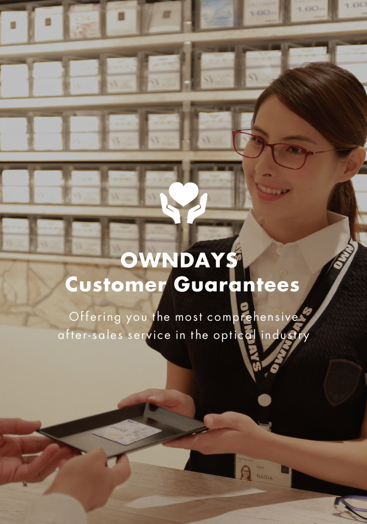 OWNDAYS Customer Guarantees