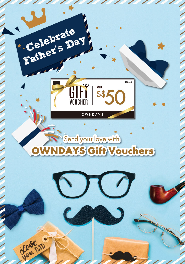 Send your love with OWNDAYS Gift Vouchers