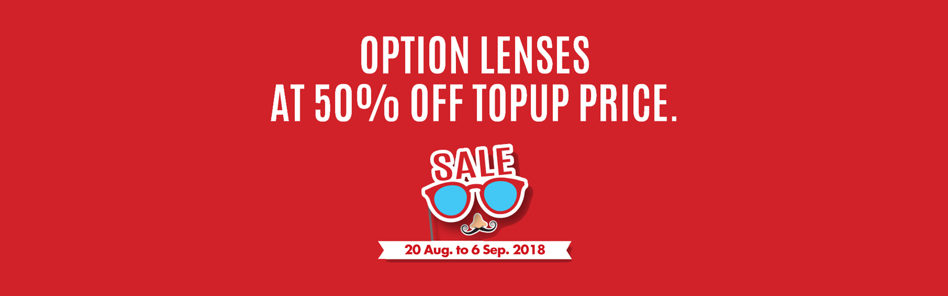 OPTION LENSES AT 50% OFF TOPUP PRICE
